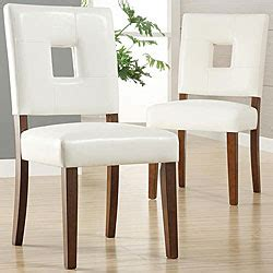 calvados faux leather white dining chairs set of 2 by