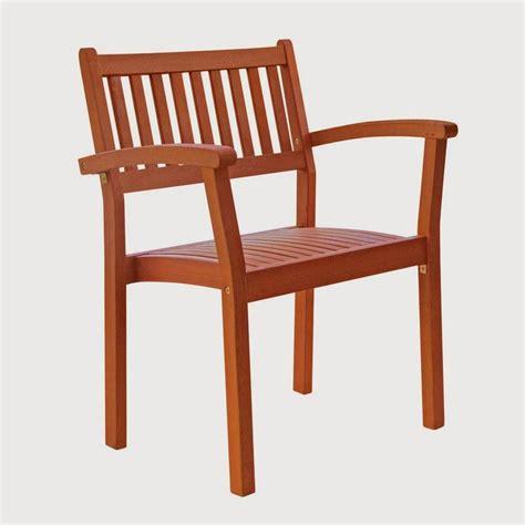 shop vifah eucalyptus stackable patio dining chair at