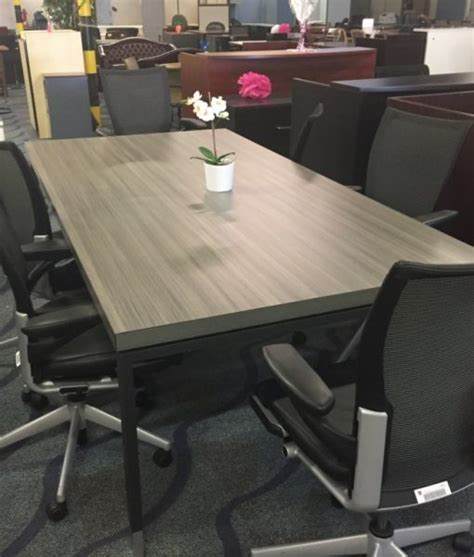 8 foot conference table 8 foot cool grey rectangular conference table direct