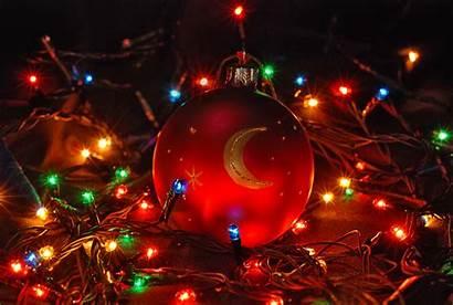 Ornament Christmas Holiday Fondos Wallpapers Navidad Lights
