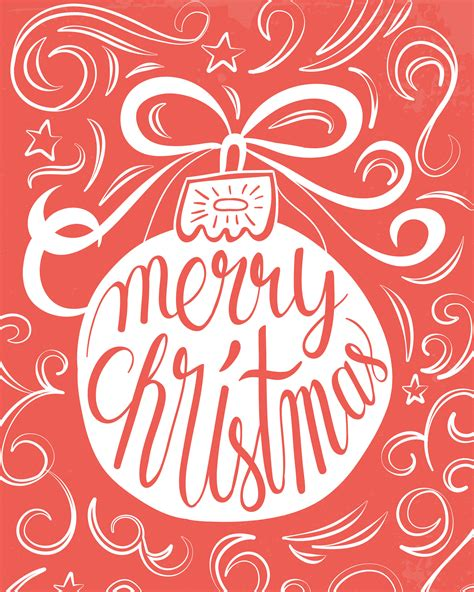 free printable merry christmas ornament prints the cottage market