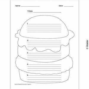 hamburger essay template walder education With burger writing template