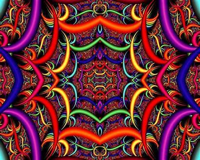Psychedelic Trippy Backgrounds Desktop Fractal Kram666 Wallpapers