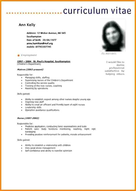 Model Cv Francais Simple by 15 Cv Exemple Simple Gratuit Modele Cv