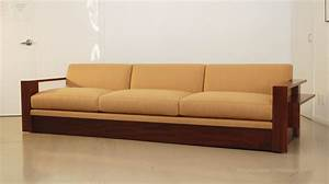 Classic design custom wood frame sofa for Wood sofa