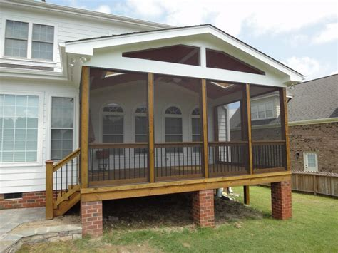 pictures for cary deck screen porch construction