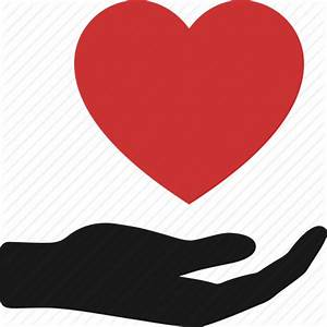 Charity, give, hand, heart care, hope, love, proposal icon ...