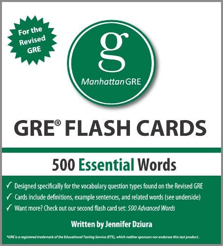500 Essential Words, 1st Edition Manhattan Gre Vocabulary Flash Cards  Feng Shui Statues