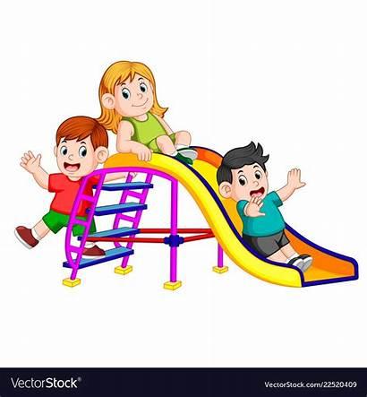 Slide Play Fun Clipart Childrens Vector Cartoon