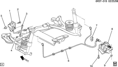 1996 Cadillac Rear Suspension Diagram by Cadillac Level System Automatic