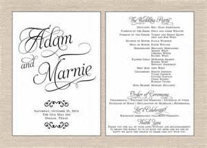 wedding programs fan classic wedding program printable fan by primroseandpark