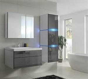 Led Beleuchtung Badezimmer : kaufexpert badm bel set lux 1 new grau hochglanz wei keramik waschbecken badezimmer led ~ Markanthonyermac.com Haus und Dekorationen