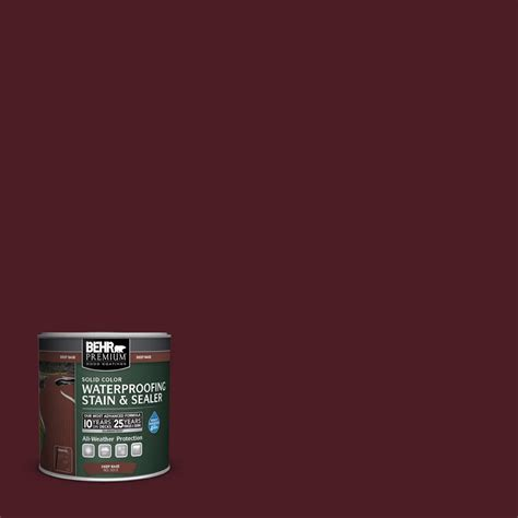 behr premium  oz sc  bordeaux solid color