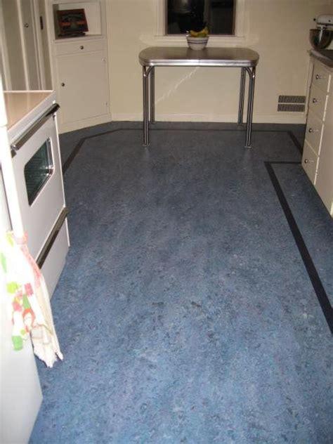 Linoleum floors and countertops brighten up Dave & Frances