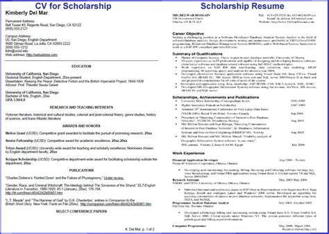 scholarship resume template learnhowtoloseweight net