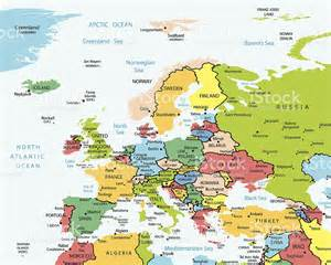 Europe Map with Cities and Countries