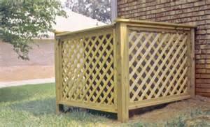 Wood Lattice Air Conditioner Cover