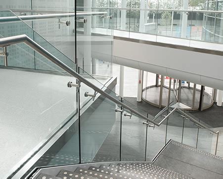 steel railing with glass. glass railings with u channel