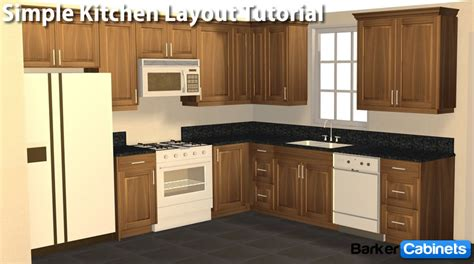kitchen layout simple  shaped kitchen