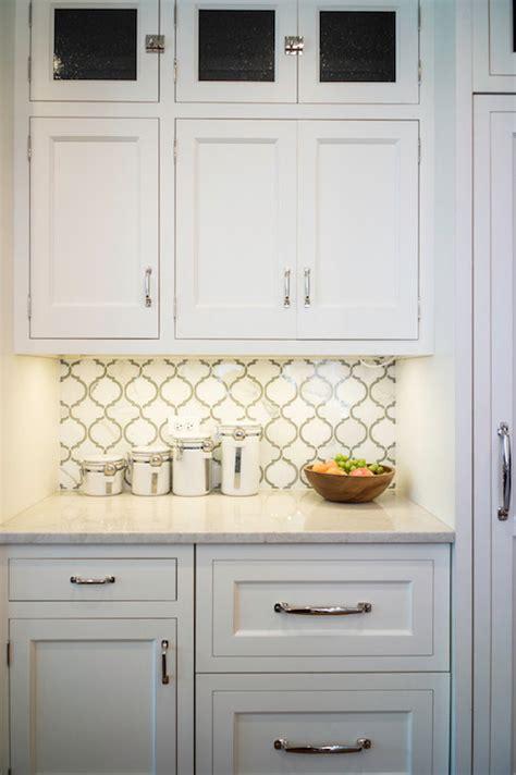 Moroccan Tile Backsplash  Transitional  Kitchen