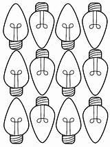 Christmas Coloring Lights Light Bulb Pages Bulbs Printable Drawing Template Holiday Sheet Tree Sheets Lightbulb Getdrawings Line Crayola Print Printables sketch template