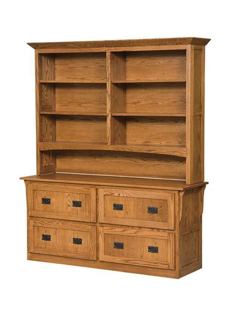 Bookcase With Lateral File Drawer mission 4 drawer lateral filing cabinet with bookcase from