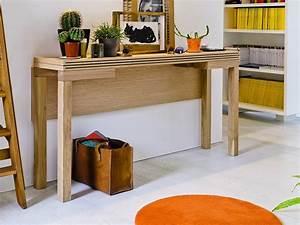 Table Console Extensible Bois : table console extensible bois massif ~ Teatrodelosmanantiales.com Idées de Décoration
