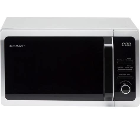 Buy SHARP R274SLM Solo Microwave   Silver   Free Delivery