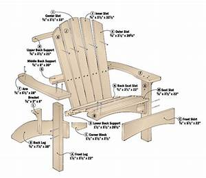 Adirondack Chair, Ottoman & Table Woodsmith Plans