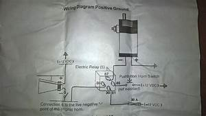 Need Help Wiring An Air Horn With A Relay