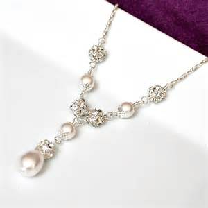 jewelry for bridesmaids bridal necklace pearl bridal necklace by somethingjeweled on etsy