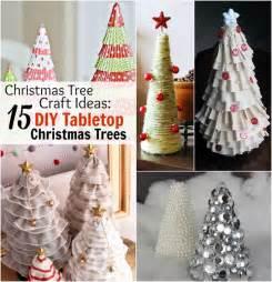 christmas tree craft ideas 15 diy tabletop christmas trees allfreeholidaycrafts com