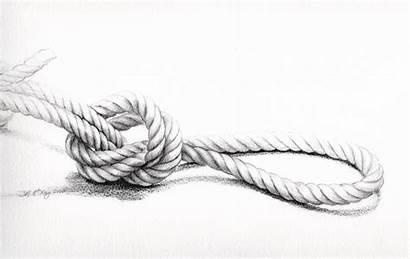 Rope Drawing Drawings Tattoo Pencil Nautical Knot
