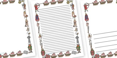 twinkl resources viking page borders thousands  printable primary teaching resources