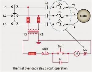Electrical Engineering World  Thermal Overload Relay Circuit Operation