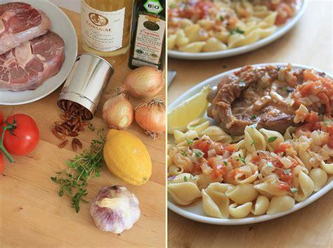 cuisine sicilienne traditionnelle cuisine italienne osso bucco à la tomate au thym et aux