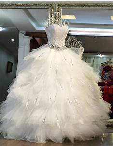 popular feather princess bride wedding dress buy cheap With modele de robe de princesse