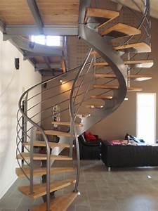 Escalier Fer Et Bois : design d 39 escalier h lico dal ~ Dailycaller-alerts.com Idées de Décoration
