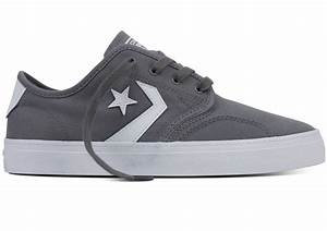 Converse Zakim Ox Shoes Grey / White Casual Clothing ...