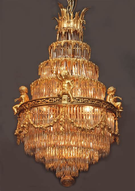 antique chandeliers for antique epoch baccarat and ormolu