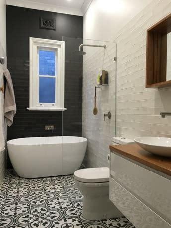 black  white pattern tiles sydney hamptons kitchen