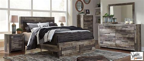 beds   derekson grey pc queen storage bedroom