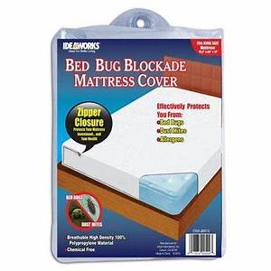 Bed bug blockade mattress cover w 3 sided zipper king for Best rated bed bug mattress cover