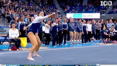 hip hop gymnastics floor routine ucla gymnast incorporates whip and nae nae into