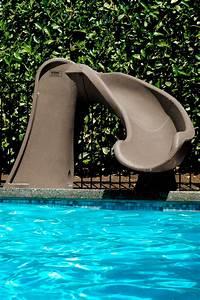 cyclone inground pool slide taupe poolsupplies