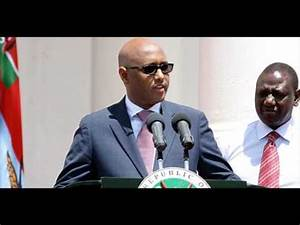 Adan Mohamed From Mandera County New Cabinet Secretary for ...