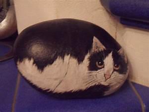 Steine Bemalen Katze : bemalter stein katze bei ebay bemalter stein bemalte steine katzen tiere auf stein gemalt ~ Watch28wear.com Haus und Dekorationen