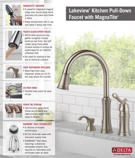 Delta Faucet Lakeview 59963 Sssd Dst by Delta Lakeview Single Handle Pull Sprayer Kitchen