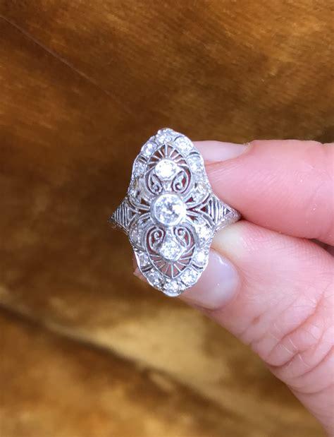 Brilliant Earth - The Gloria Antique Platinum Diamond Ring ...