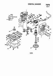 Skil Model 7275 Type 2 Sander Genuine Parts